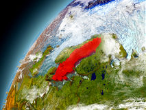 Schweden von der Bahn von vorbildlichem Earth Stockbild