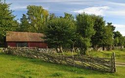 Schwedische alte Architektur Lizenzfreie Stockbilder
