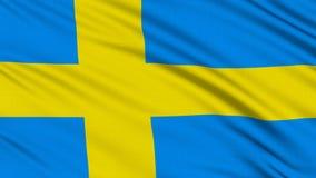 Schwedische Flagge. stock video