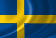 Schwedische Flagge Stockbilder