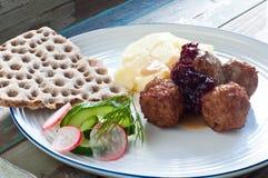 Schwedische Fleischklöschen Lizenzfreies Stockfoto