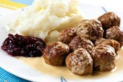 Schwedische Fleischklöschen Stockfotografie