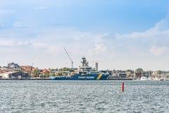 Schwedische Küstenwache Multi Purpose Vessel KBV 003 Amfitrite stockfotografie
