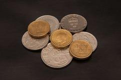 Schwedische Krona der Münzen Stockbilder