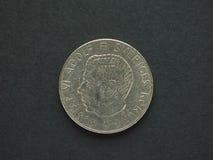 1 Schwedische Krone u. x28; SEK& x29; Münze Stockfotografie