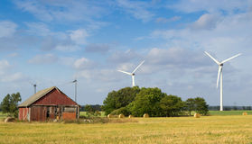 Schwedische Landwirtschaftslandschaft Lizenzfreies Stockfoto