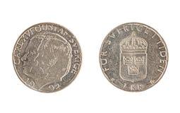 Schwedische Münze, der Nennwert von 1 Krona, Lizenzfreie Stockfotografie