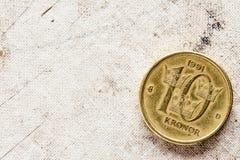 Schwedische Münze - zehn Krona Stockfotografie