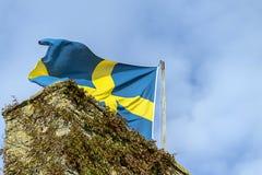 Schwedische Markierungsfahne Stockbild