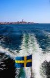Schwedische Markierungsfahne. Lizenzfreie Stockfotos