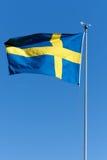 Schwedische Markierungsfahne Lizenzfreies Stockbild