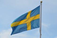 Schwedische Markierungsfahne Lizenzfreies Stockfoto