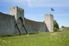 Schwedische Markierungsfahne auf Gotland Lizenzfreie Stockfotografie