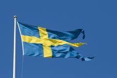 Schwedische Militärmarkierungsfahne Lizenzfreies Stockbild