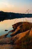 Schwedische Sommernacht Stockbild