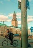 Schwedische Straße stockbild