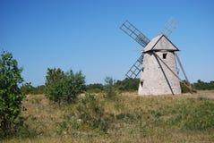 Schwedische Windmühle Lizenzfreies Stockbild