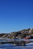 Schwedische Winterszene vom Archipel Lizenzfreie Stockbilder
