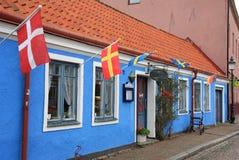 Schwedischer ehemaliger Bauernhof in Ystad Lizenzfreie Stockfotografie