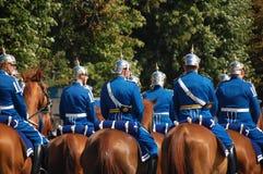 Schwedischer königlicher Schutz Stockfotos