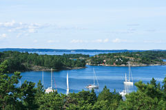 Schwedischer Sommer im Archipel Lizenzfreie Stockbilder