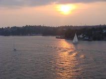 Schwedischer Sonnenuntergang stockfoto
