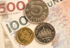 Schwedischer Währungs-Abschluss oben Stockfotografie