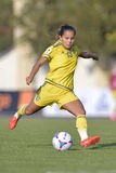 Schwedischer weiblicher Fußballspieler - Malin Diaz Stockbilder