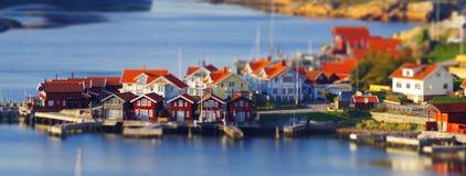 Schwedisches Dorf Lizenzfreie Stockfotos
