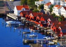Schwedisches Dorf 2 Stockfoto