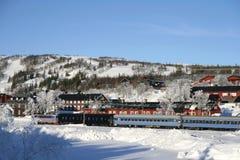 Schwedisches Dorf Stockfoto