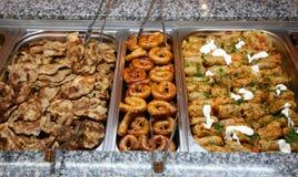 Schwedisches Fleischbuffet Stockfoto