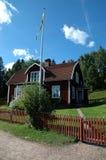 Schwedisches Haus in Astrid Lindgrens Katthult Lizenzfreie Stockfotos