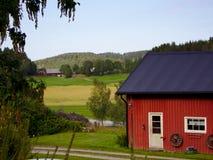 Schwedisches Haus in Bohuslän Stockfotos