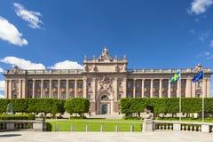 Schwedisches Parlament in der Stadt von Stockholm stockfotos