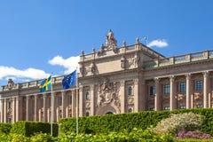 Schwedisches Parlament in der Stadt von Stockholm stockfoto