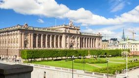 Schwedisches Parlament in der Stadt von Stockholm stockfotografie