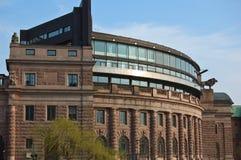 Schwedisches Parlamentsgebäude stockfoto