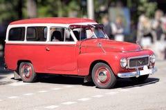 Schwedisches Retro- Auto Lizenzfreies Stockfoto