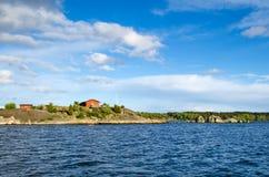 Schwedisches Seearchipel Stockfotos