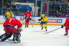 Schwedisches Team Vorwärts-Magnus Roupe (19) Lizenzfreie Stockfotos