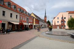 Schwedt στην Ανατολική Γερμανία Στοκ εικόνα με δικαίωμα ελεύθερης χρήσης