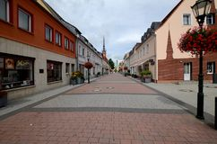 Schwedt en la Alemania Oriental foto de archivo libre de regalías
