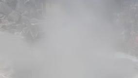 Schwefliger Dampf, Owakudani, Japan stock footage