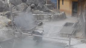 Schwefliger Dampf, Owakudani, Japan stock video footage