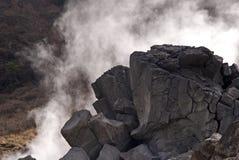 Schwefliger Dampf, Owakudani, Japan stockbild