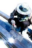 Schweißarbeit für das Baugewerbe in Thailand stockbild