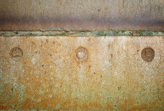 Schweißender alter Eisenhintergrund der Naht Stockfoto