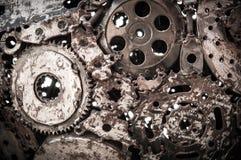 Schweißender Nahtmetallhintergrund Stockfoto