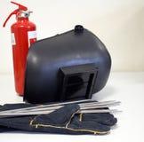 Schweißensausrüstung u. Feuerlöscher Lizenzfreies Stockbild